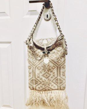 Orig. D&G Schultertasche/ Handtasche 100% Wolle beige - Vintage,