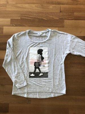 Orig. DKNY°Cooles LA-Shirt°hellgrau m. Print°XS°34°Kids Größe 12y°wie neu