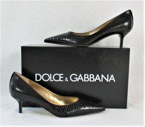 "Orig. Dolce & Gabbana ""Black Label"" Pumps/ Schlangenleder/ Schwarz/Gr.36.5/ NEU!"