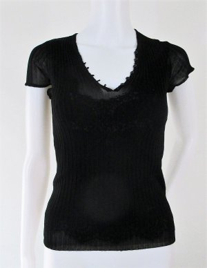 "Orig. Dolce & Gabbana ""Black Label"" Semitransparent Stricktop/schwarz/Gr.34/sold out!"