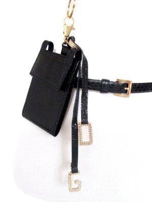 Orig. Dolce & Gabbana Handytasche mit Halskette-Gürtel/Leder/schwarz/Gr.80/wie NEU!