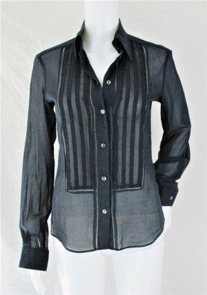 Orig. Dolce & Gabbana Hemd-Bluse mit Verzierung/ semi-transparente / Dunkelblau/100% Baumwolle/ WIE NEU!