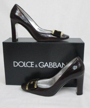 Orig. Dolce & Gabbana Pumps aus Aalleder / Dunkelbraun / HERVORRAGEND!