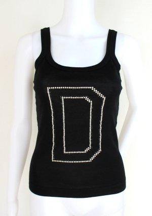 "Orig. Dolce & Gabbana T -Top ""Black Label Linie"" /Swakovski/Perlen/wie NEU!"
