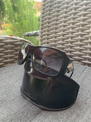 Orig. Ferragamo Sonnenbrille, schwarz mit Strass-Applikation