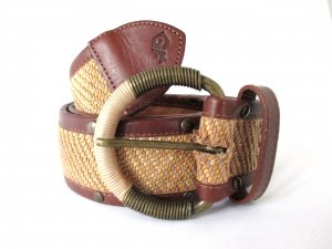 Gianfranco Ferré Cinturón trenzado multicolor Cuero