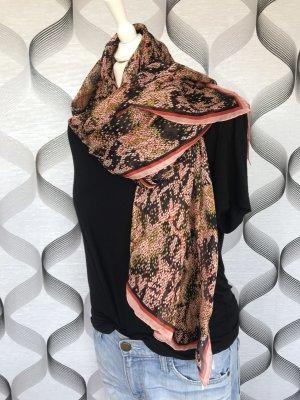 Givenchy Bufanda de seda rojo claro-salmón Seda