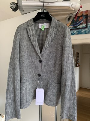 Orig HARRIS WHARF LONDON Blazer Jacke blau weiß pepita wNeu 349€ 36/38