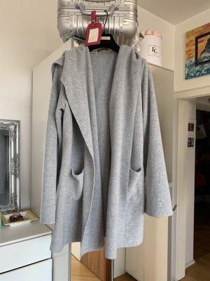Harris Wharf London Cappotto con cappuccio grigio chiaro