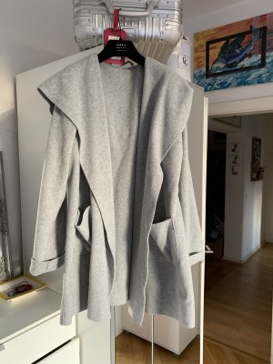 Harris Wharf London Hooded Coat light grey
