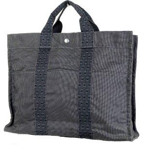 Hermès Shopper noir-gris brun