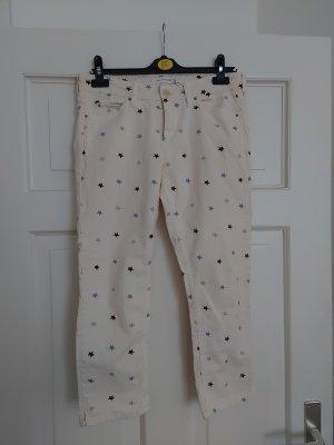 Orig. Isabel Marant Etoile Deacon Jeans FR42 40 Creme Sterne bestickt rar