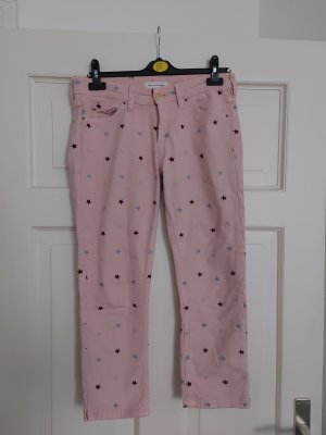 Orig. Isabel Marant Etoile Deacon Jeans FR42 40 Rosa Sterne bestickt cropped rar
