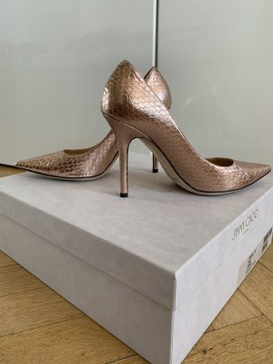 Orig JIMMY CHOO Pumps 36 Love rosé gold High Heels Hochzeit Leder wNeu 650€