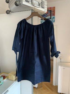 Orig KD Couture Kleid Dilkrath Minikleid Sommerkleid M 36/38 Navy off Shoulder Tunika