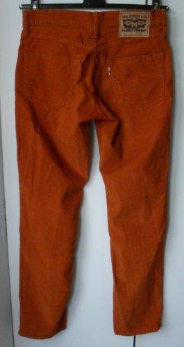Levi's Pantalone di velluto a coste arancione scuro Tessuto misto