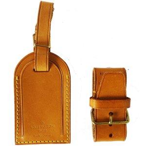 Orig Louis Vuitton Adress Anhänger Set ID-TAG GURT Vachetta Keepall Koffer / NEUWERT