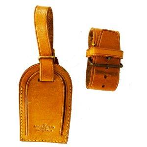 Louis Vuitton Reistas zandig bruin Leer