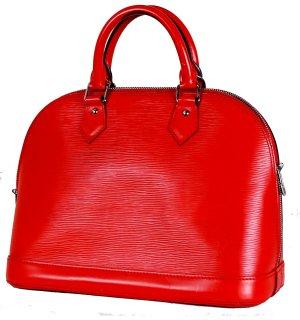 ORIG. LOUIS VUITTON ALMA EPI LEDER ROT SILBERF..BESCHLÄGE Handtasche Bag / NEUWERTIGER ZUSTAND