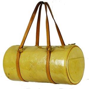 Louis Vuitton Sac bowling beige clair-jaune fluo cuir