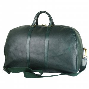 Louis Vuitton Travel Bag dark green leather