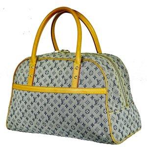 ORIG. LOUIS VUITTON MARIE Handtasche HANDBAG MINILIN Denim GROSS / GUTER ZUSTAND