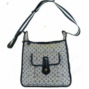 Louis Vuitton Bolsa de hombro marrón grisáceo-azul neón