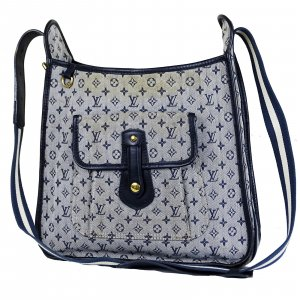ORIG. LOUIS VUITTON MARY KATE MESSENGER BAG SCHULTERTASCHE DENIM  MONOGRAM MINILIN / GUTER ZUSTAND