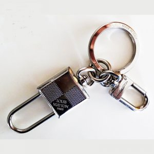Louis Vuitton Key Chain silver-colored metal