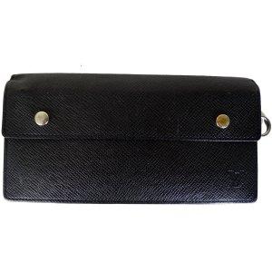 Orig Louis Vuitton Portefeuille Geldbörse Wallet Brieftasche Taiga Leder schwarz / SEHR GUT