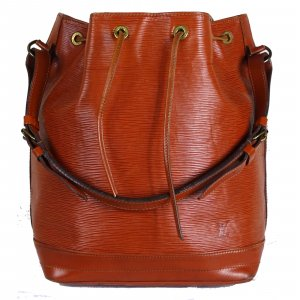 Louis Vuitton Pouch Bag cognac-coloured leather
