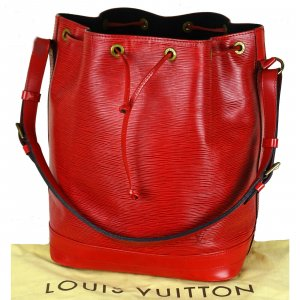 Louis Vuitton Pouch Bag neon red leather