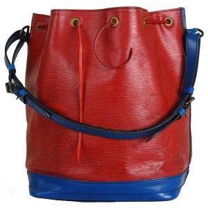 Orig Louis Vuitton Sac Noe Beutel Gross Klassiker Leder Sondermodell Bi-Color Tasche Bag / Gut