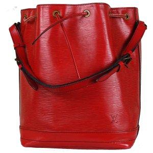 Louis Vuitton Sac seau rouge brique cuir