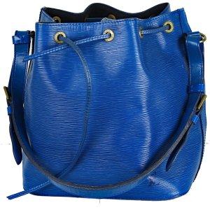 Louis Vuitton Sac seau bleu cuir