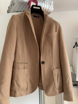 Massimo Dutti Blazer in lana color cammello Lana