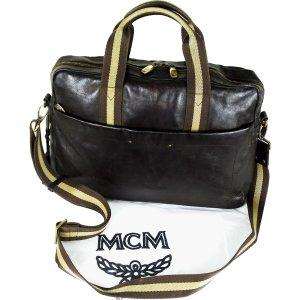 MCM Borsa pc marrone Pelle