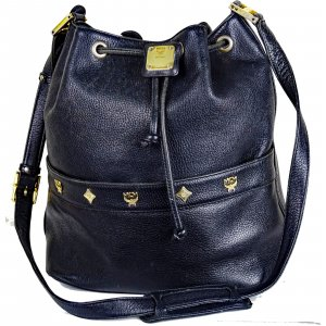 MCM Pouch Bag black leather