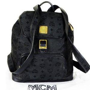 ORIG. MCM CITY-RUCKSACK JACQUARD SCHWARZ Backpack Schultertasche / GUT