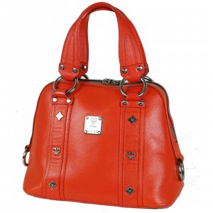 MCM Bowling Bag red leather