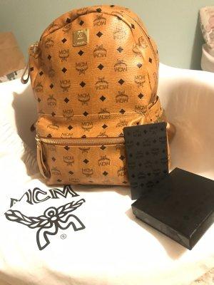 Orig.MCM Rucksack Medium, Cognac mit Rechnung und Zertifikaten