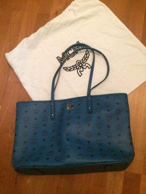 MCM Shopper blauw-staalblauw