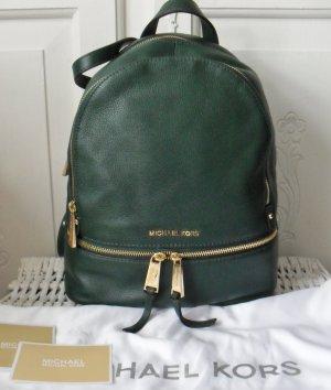 orig. Michael Kors Rhea Medium Rucksack dunkelgrün 1 x getragen