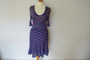 Orig. MISSONI Strickkleid IT 40 D 34 blau gemustert mit 3/4-Armen