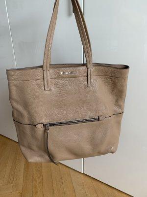 Orig MIU MIU by Prada Shopper Tote Tasche beige wNeu Leder Daino