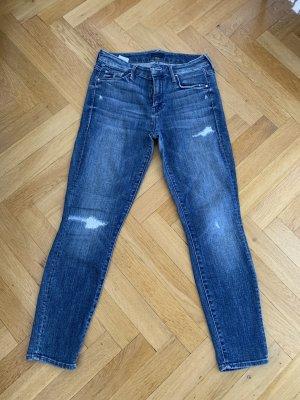 Orig MOTHER Jeans Ankle Crop destroyed blau 26 jades Skinny NP339€