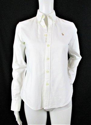 Orig. Polo Ralph Lauren Slim-Fit Oxfordhemd / Weiss / 100%Baumwolle/Gr.XS-34 US 2 / Hervorragend!
