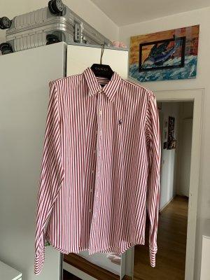 Orig RALPH LAUREN Hemd Bluse gestreift rot weiß 36 38 polo