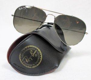 Ray Ban Gafas de piloto color plata-gris acetato