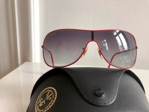 Orig. Ray Ban Sonnenbrille rot Brille Unisex Pilotenbrille metall